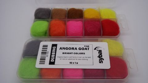 FINE ANGORA GOAT DUBBING ( BRIGHT COLORS )